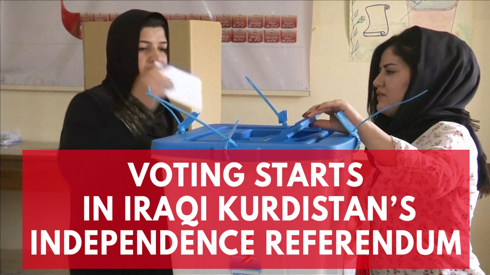 Voting Starts In Iraqi Kurdistan's Independence Referendum