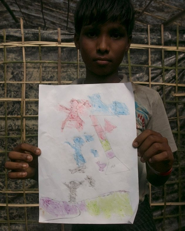 Rohingya children's drawings