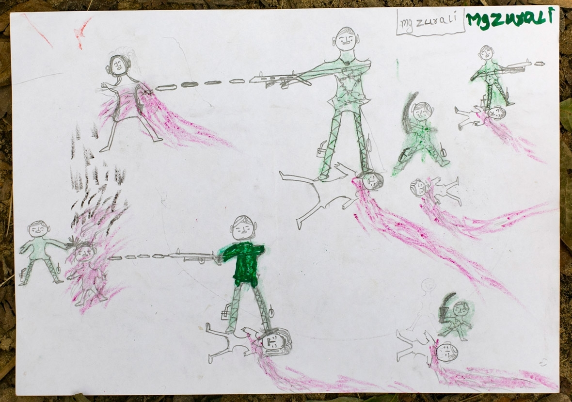 Rohingya Muslim children's drawings depict horrific acts ...