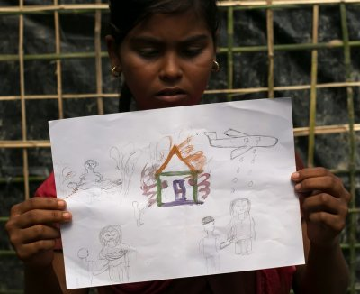 Rohingya childrens drawings