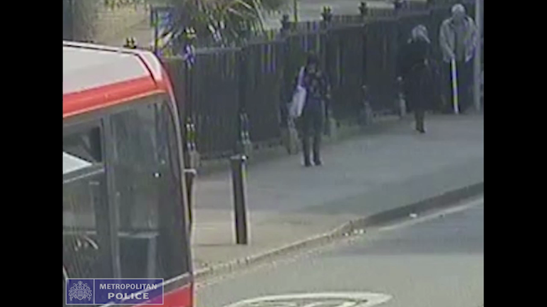CCTV footage of Ivan Griffin on the streets of south London