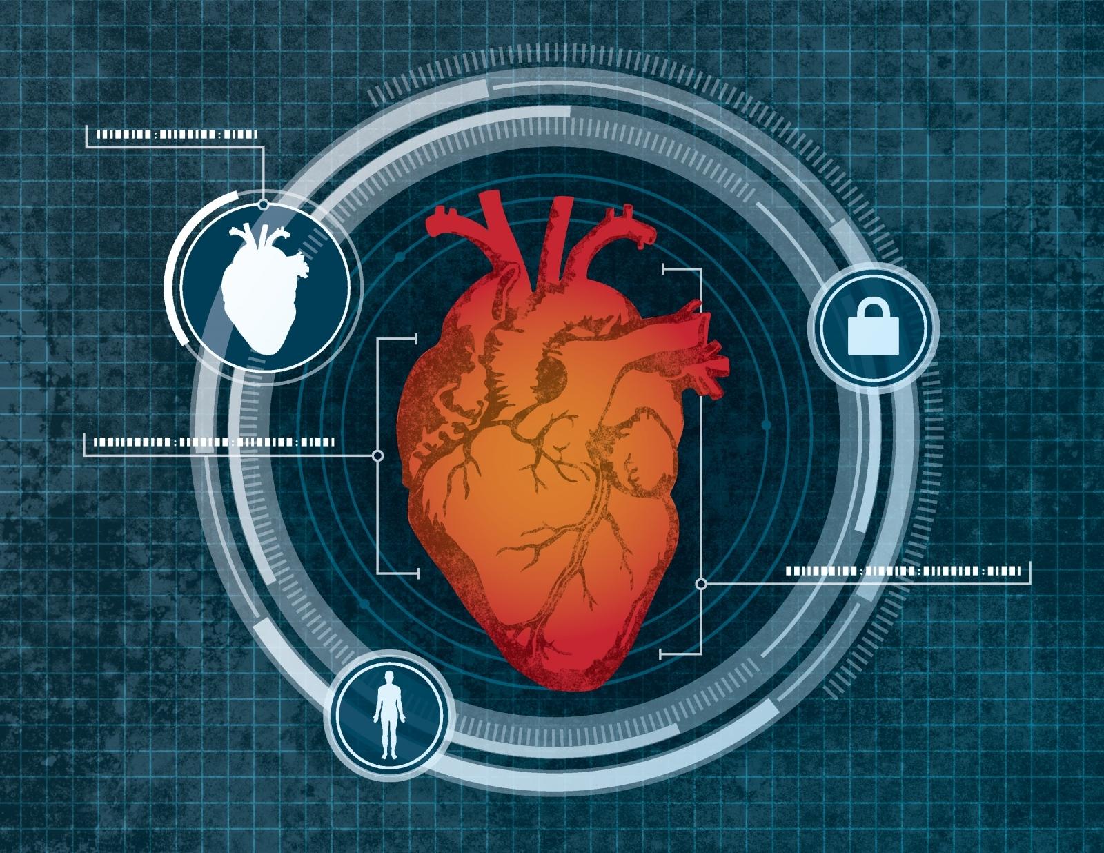 Heart scan biometrics