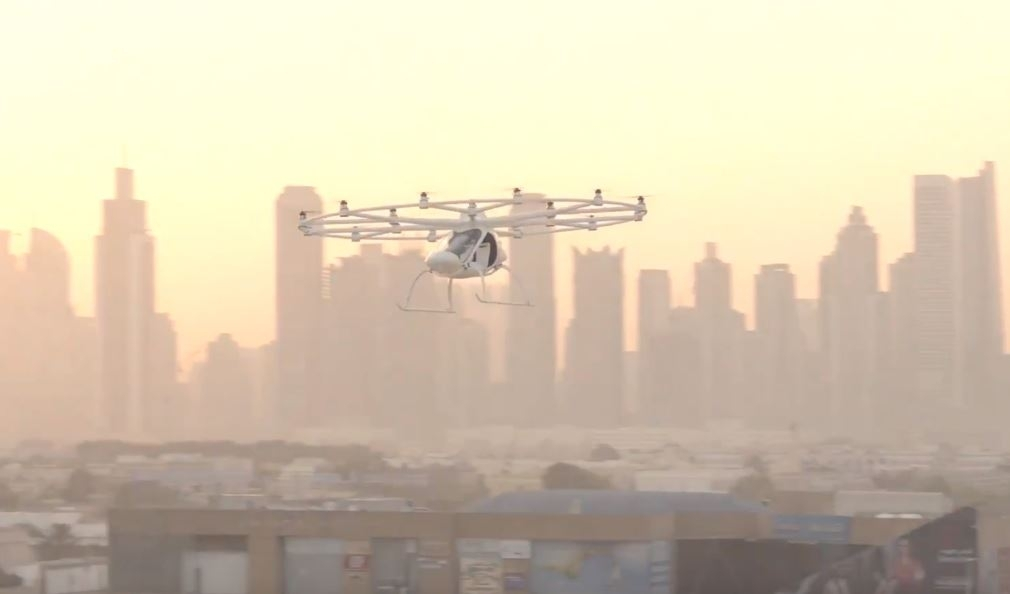 Dubai world first flying taxi drone