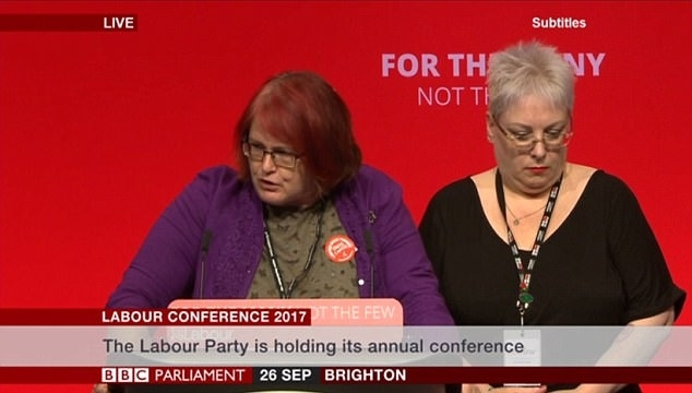 Hazel Malcolm-Walker, representing Bournemouth West, addresses the Labour Party conference in Brighton