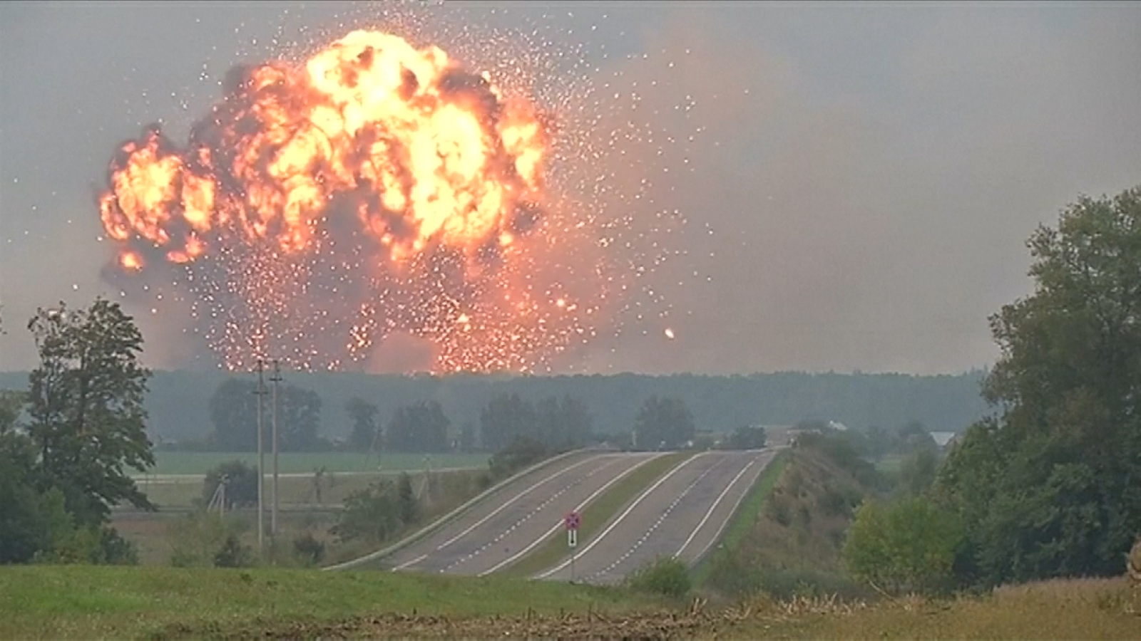 Ammunition Depot Explodes In Central Ukraine