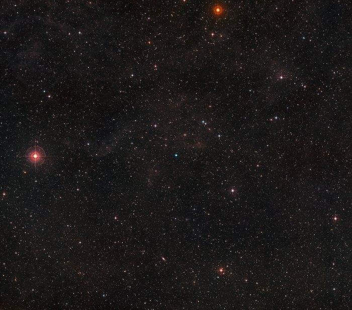 Sky around Saturn Nebula
