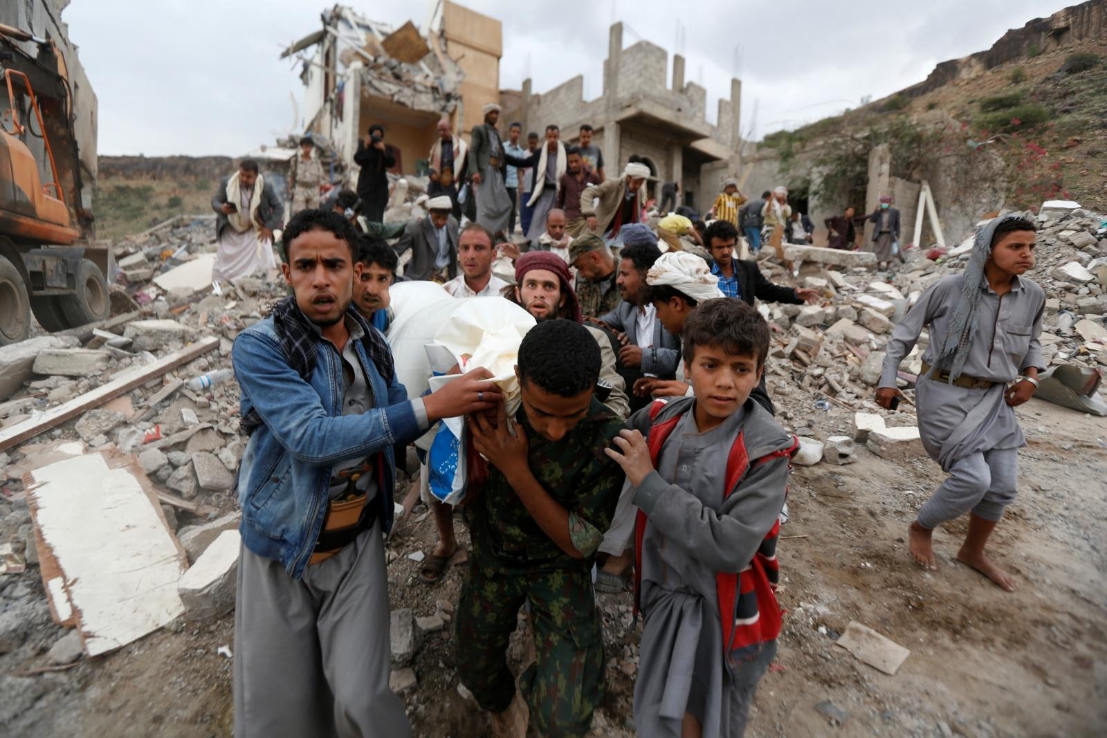 air strike Sanaa Yemen