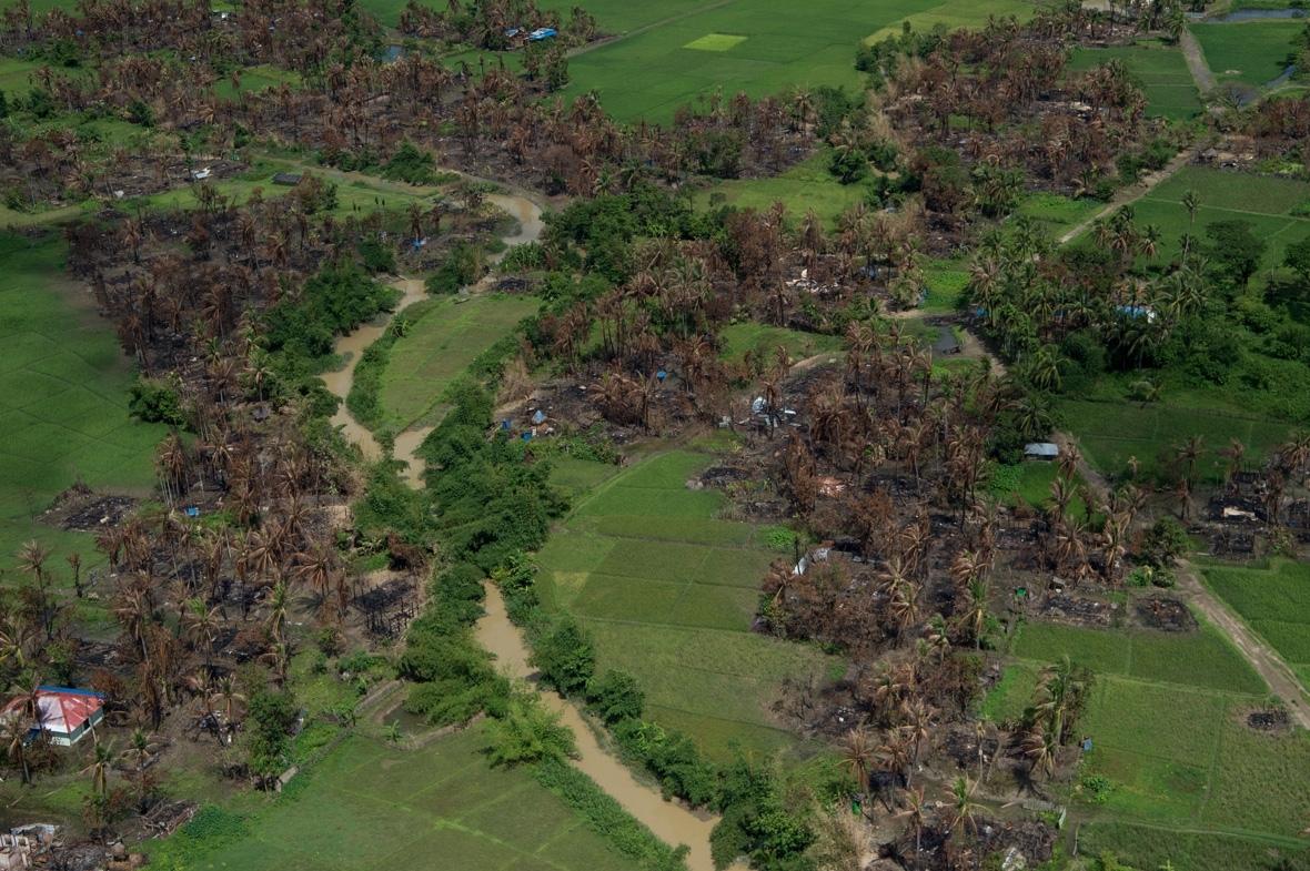 Rohingya villages Maungdaw Rakhine Myanmar