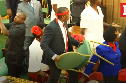Mass Brawl Breaks Out In Ugandan Parliament