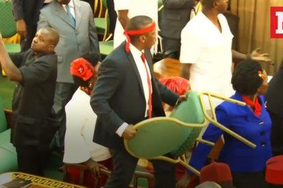 Mass Brawl Breaks Out In Ugandan Parliament