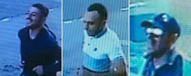 CCTV images of the three men the Police wish to speak to in connection with the attack on Ahmet Dobran