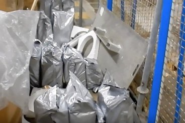 Sealed bags of smuggled cannabis resin