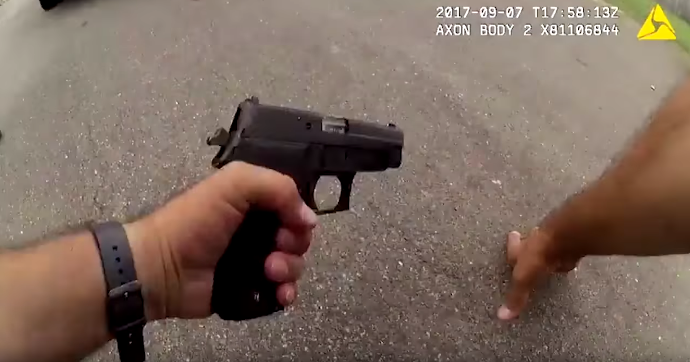 Screenshot of police shoot out