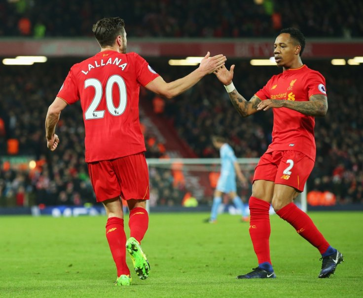 Adam Lallana and Nathaniel Clyne
