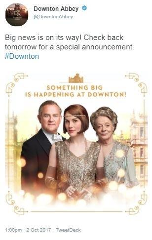 Downton Abbey tweet