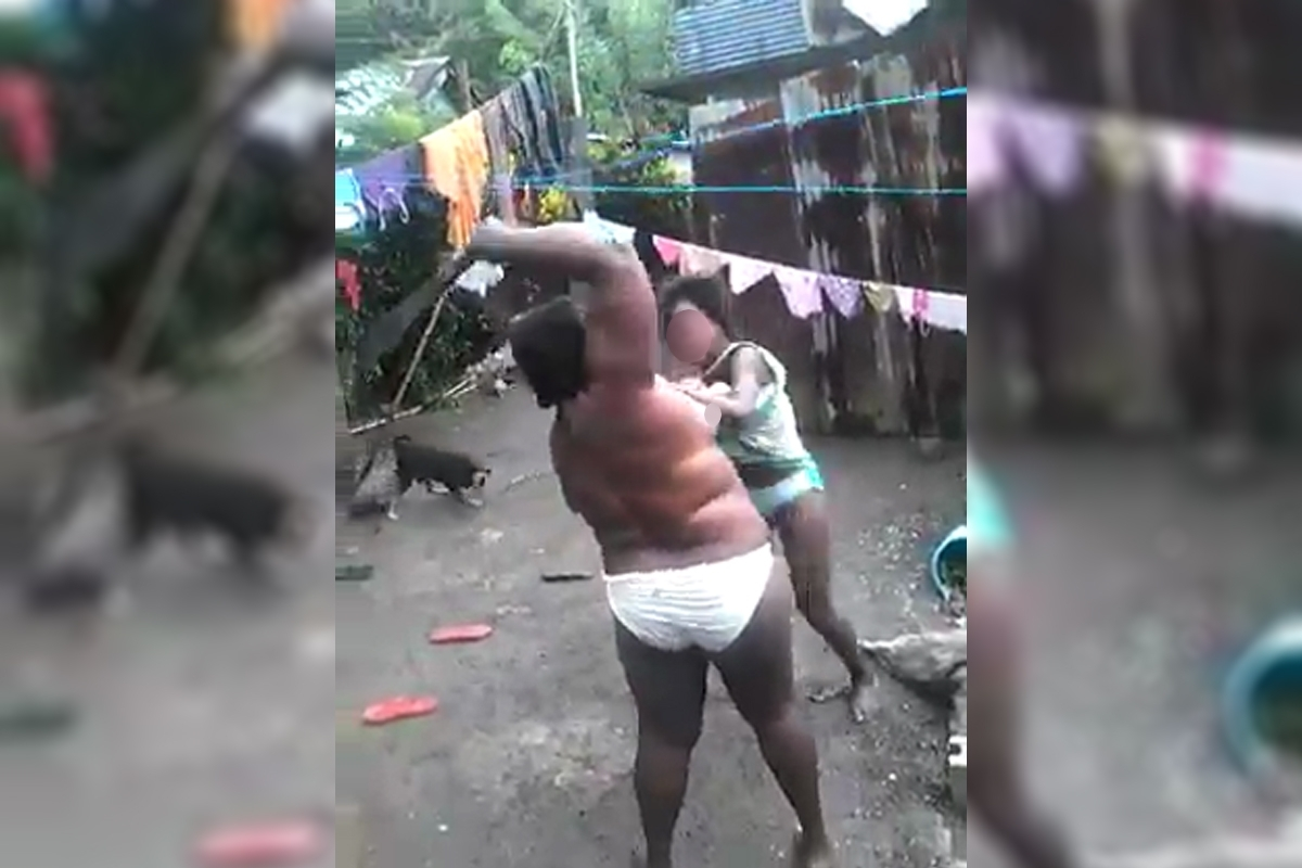 Jamaican Woman Seen Beating Child With Machete In Viral -7769