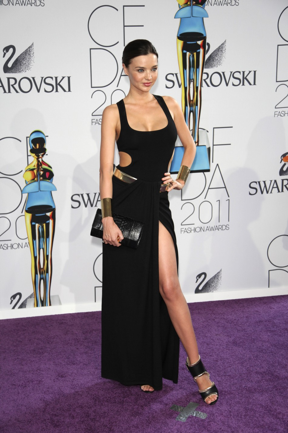 Miranda Kerr poses on the red carpet at the CFDA Fashion awards at the Lincoln Centers Alice Tully Hall in New York City