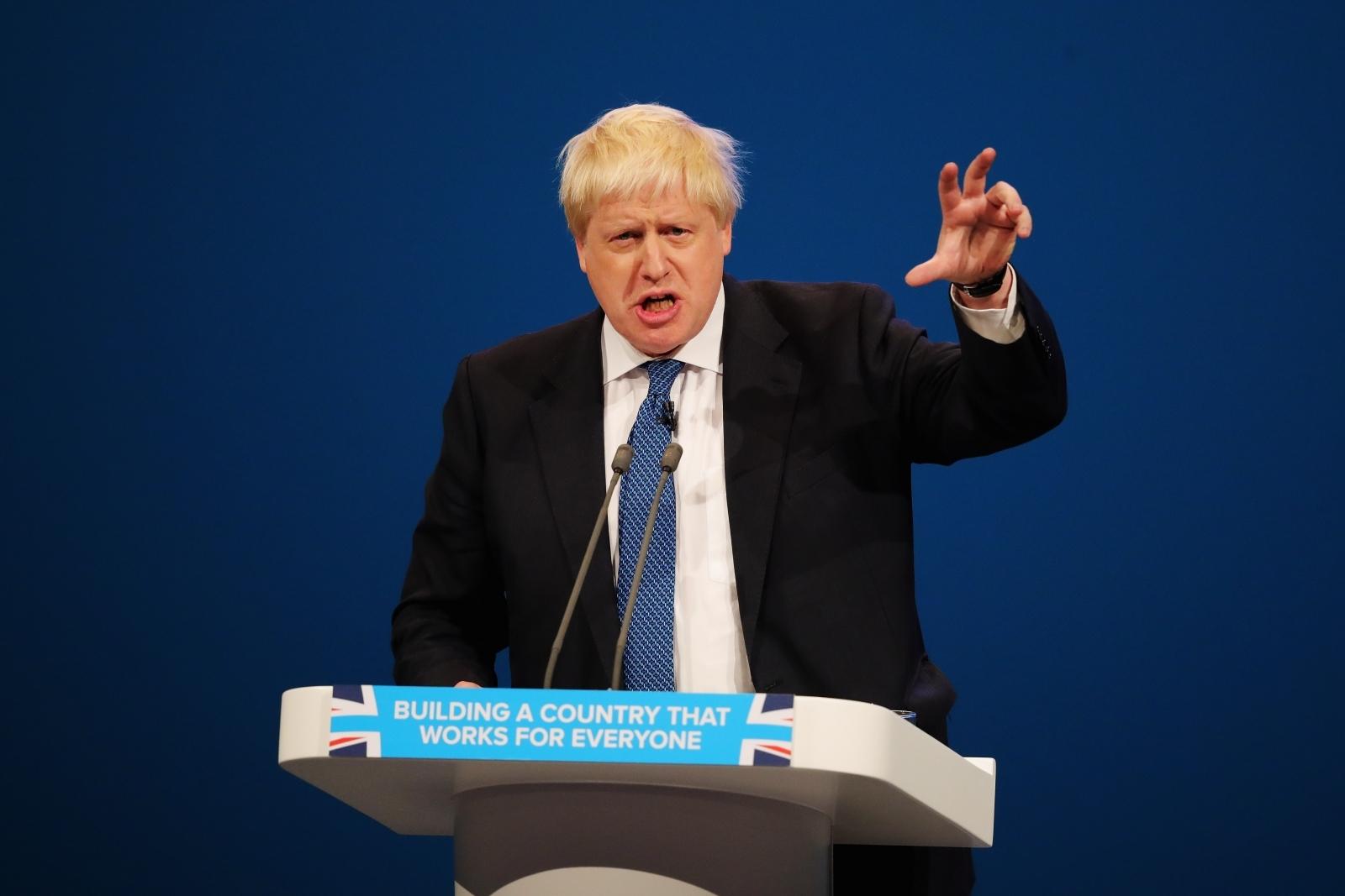 Boris Johnson Conservative party conference speech