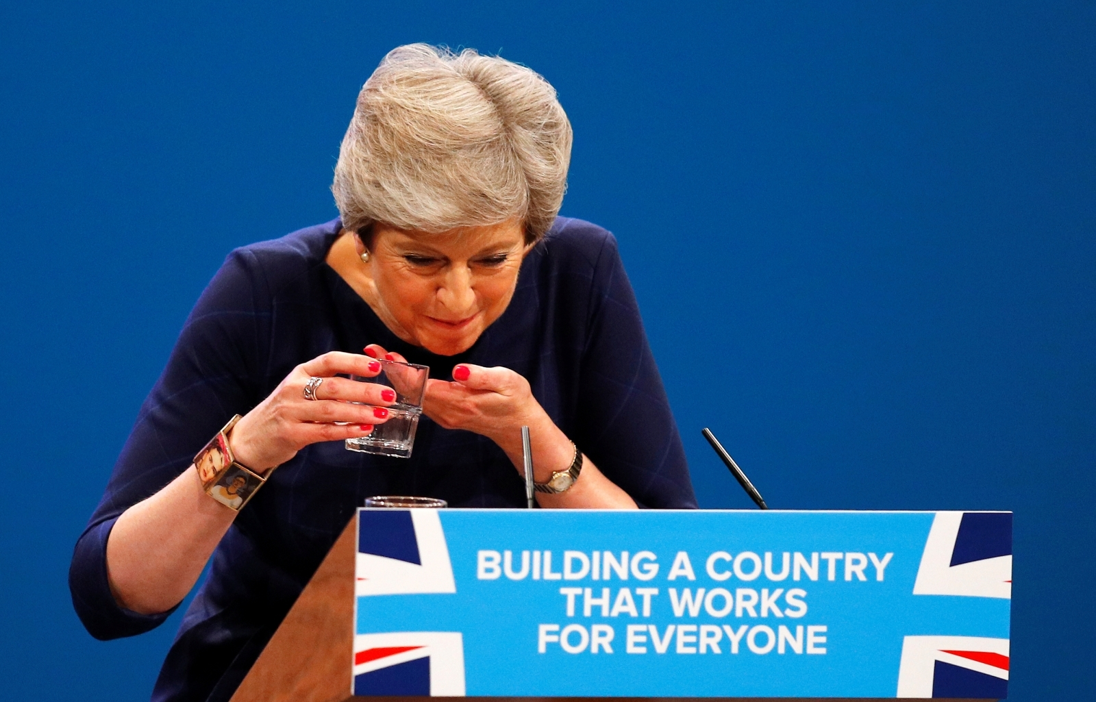 Theresa May Conservative Party Conference Lozenge Cough