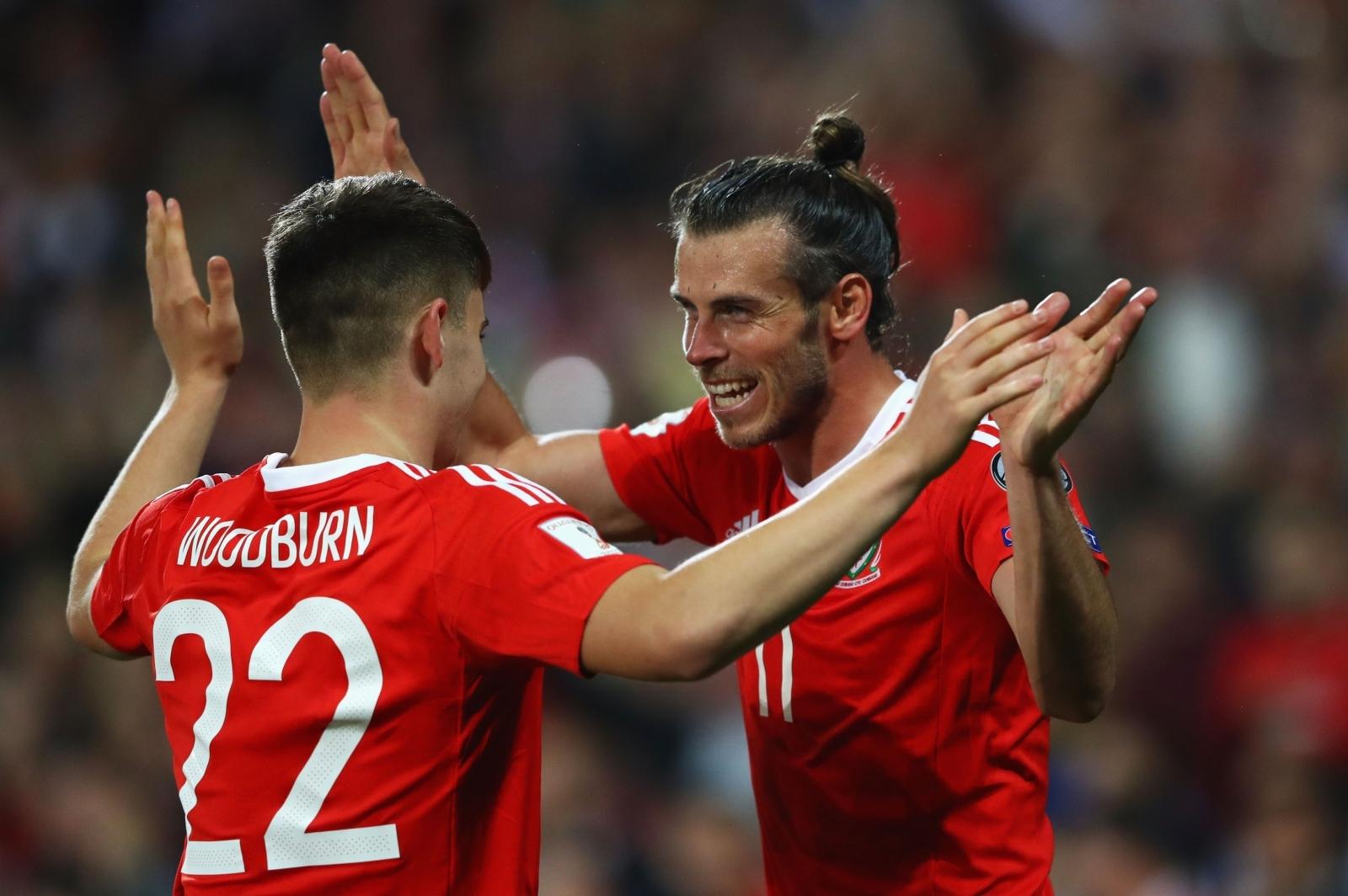 Ben Woodburn and Gareth Bale
