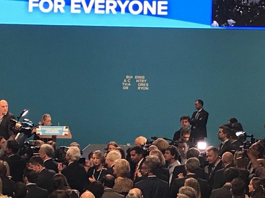 Theresa May F speech