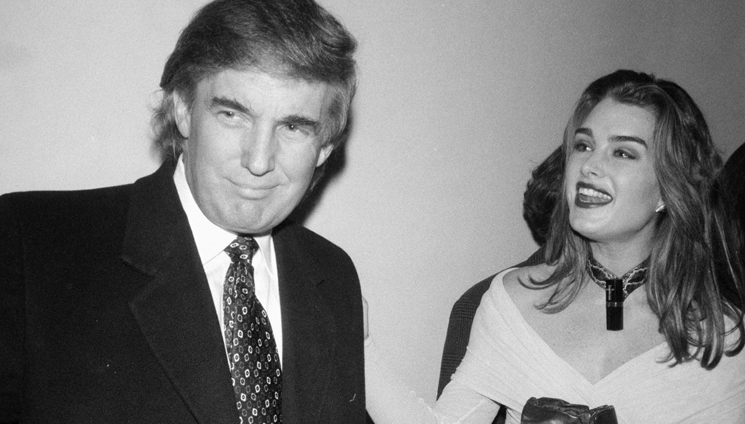 Donald Trump and Brook Shields