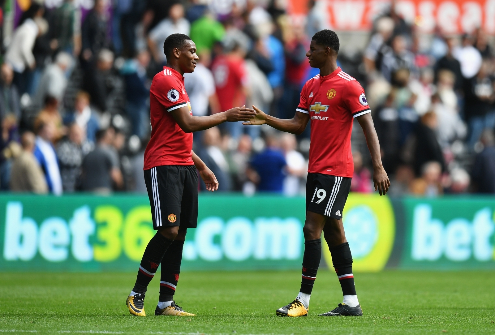 Anthony Martial and Macus Rashford