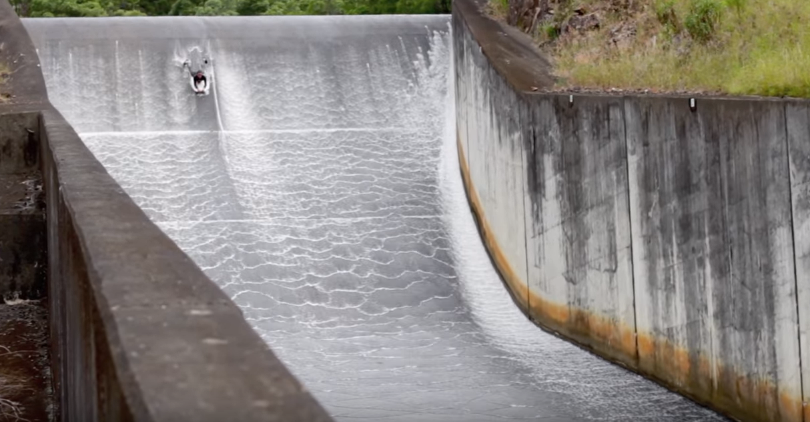 Dam-surfing
