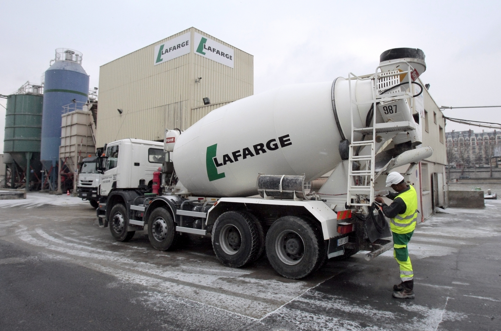 Lafarge cement truck