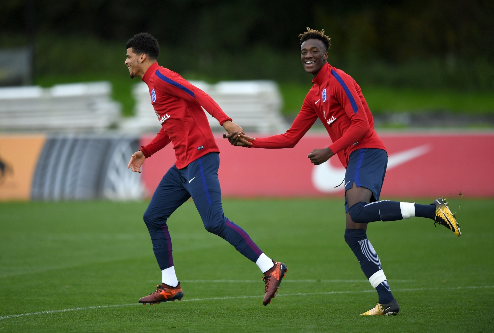 Dominic Solanke and Tammy Abraham