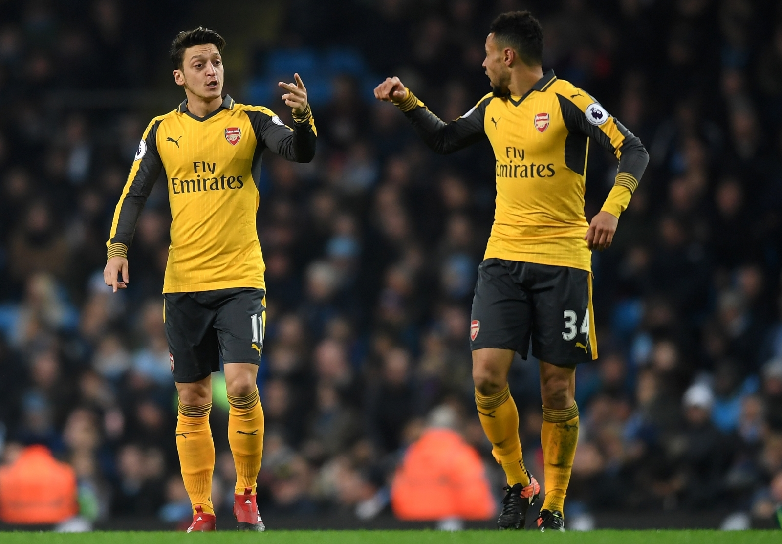 Mesut Ozil and Francis Coquelin