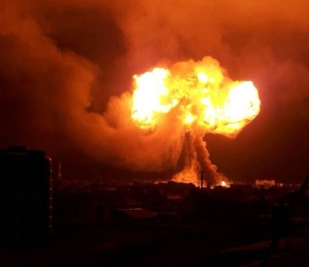 Gas explosion in Ghana