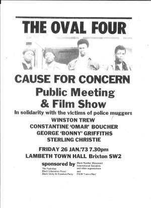 The Oval Four was one of a series of trials in the early 1970s involving young black men and Tube muggings that either collapsed or sentences heavily reduced on appeal