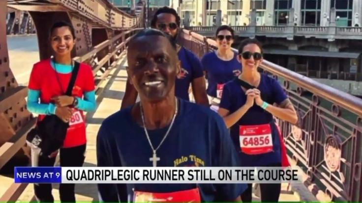Chicago marathon runner Alan Robinson