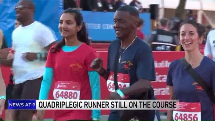 Chicago Marathon runner Alan Robinson at start