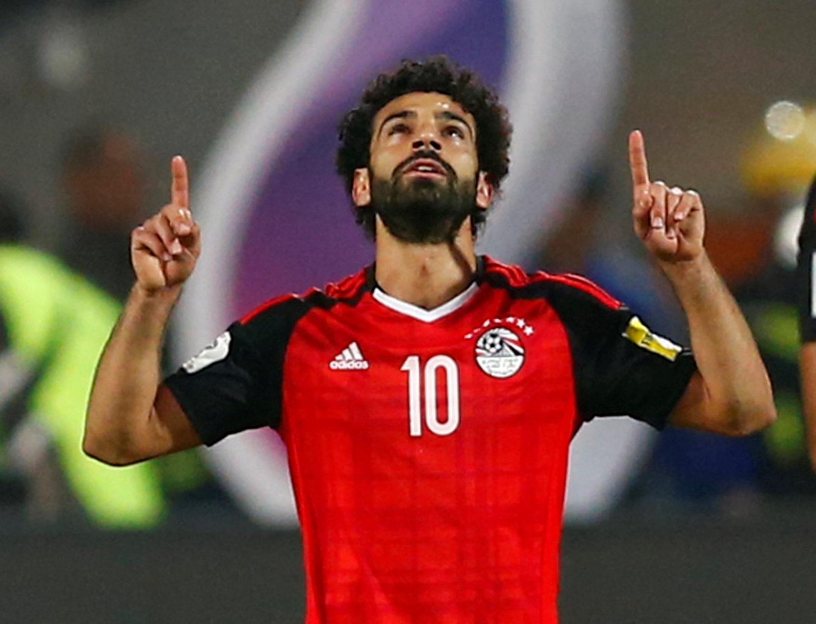 Mo Salah Celebrating