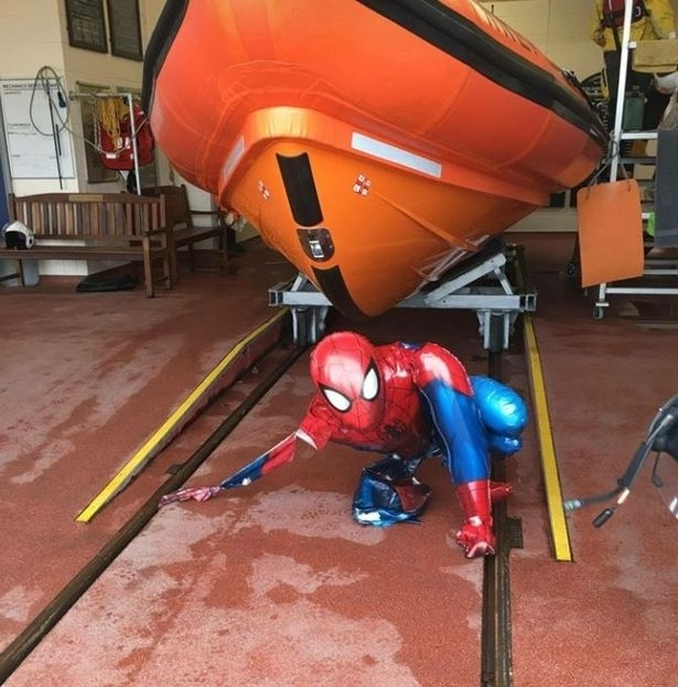 Spiderman rescued by Sunderland coastguard