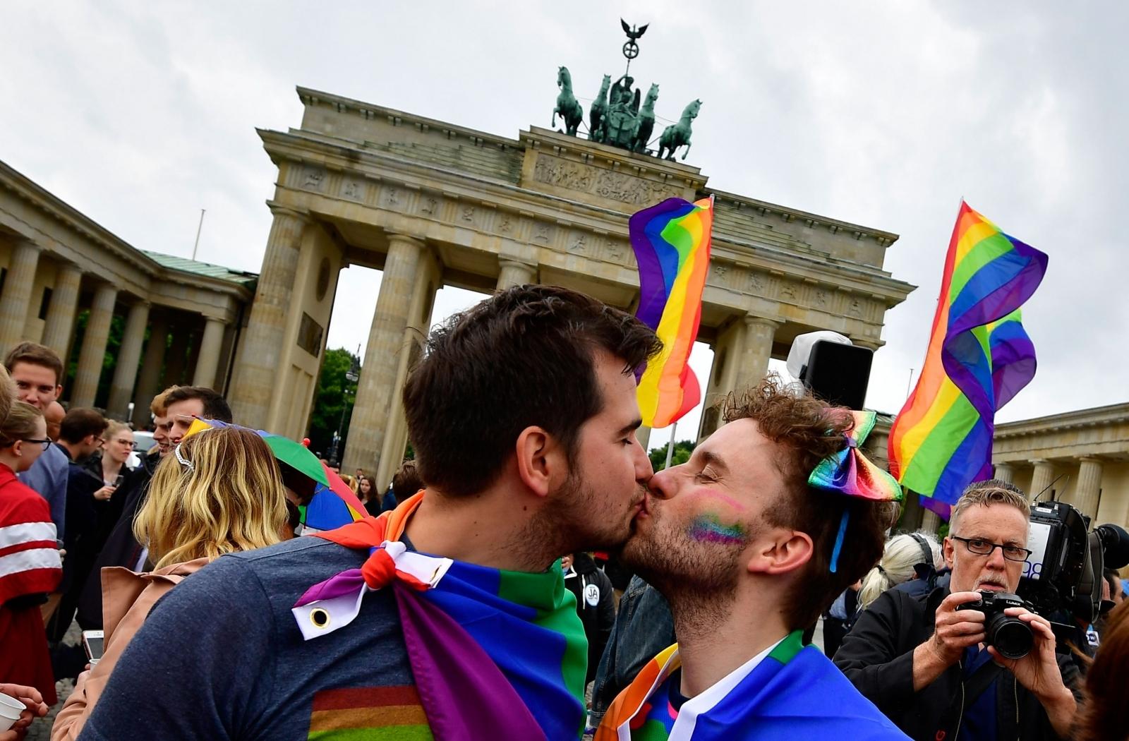 LGBT rally in front of Brandenburg Gate