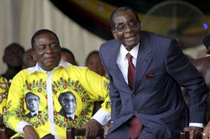 Robert Mugabe Emmerson Mnangagwa