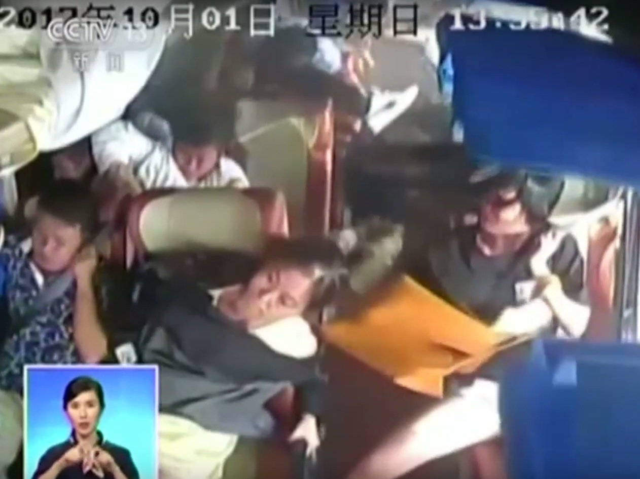 China CCTV bus crash
