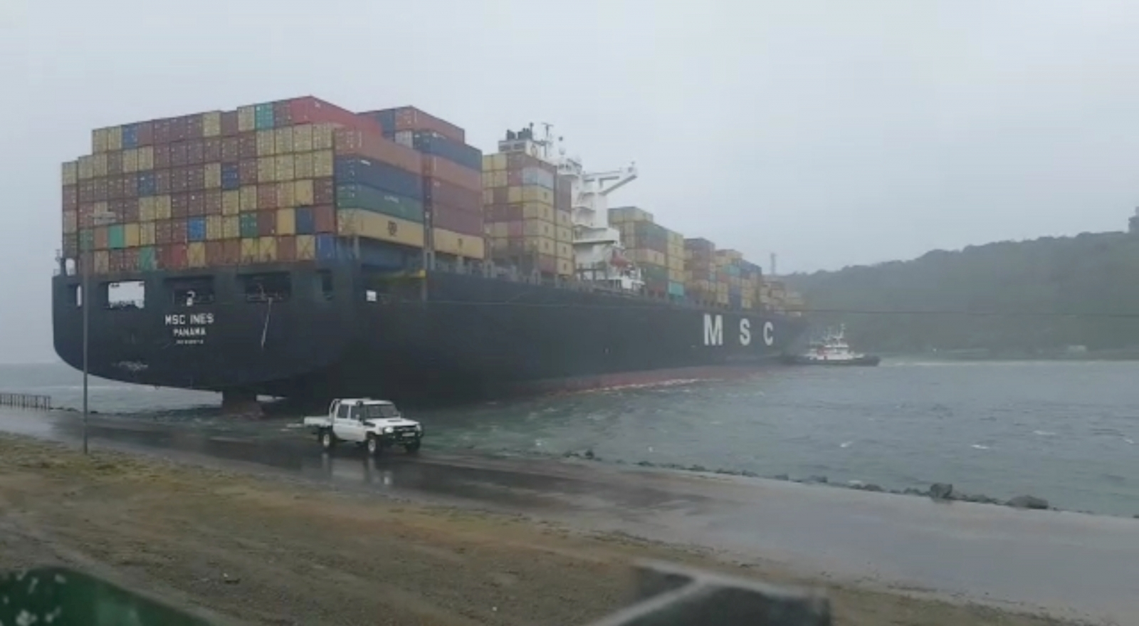 Durban Harbour Storm Container Ship Blockage