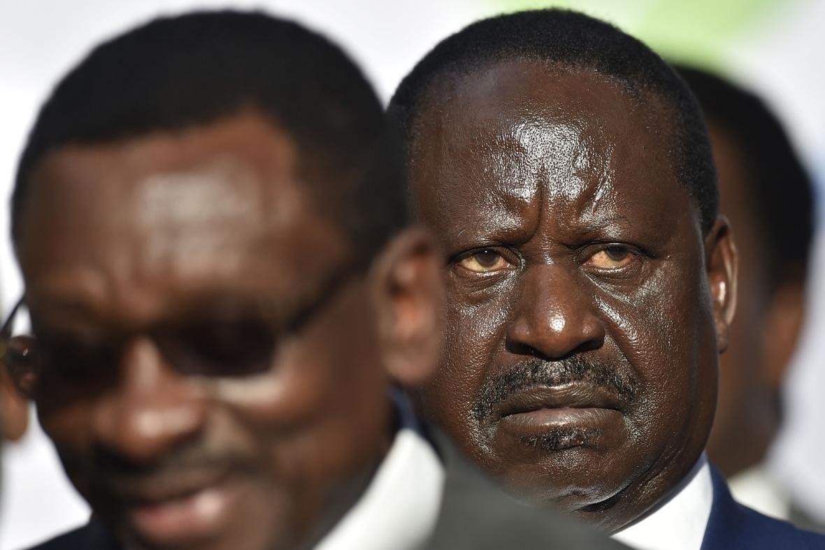 Kenya election protests Odinga