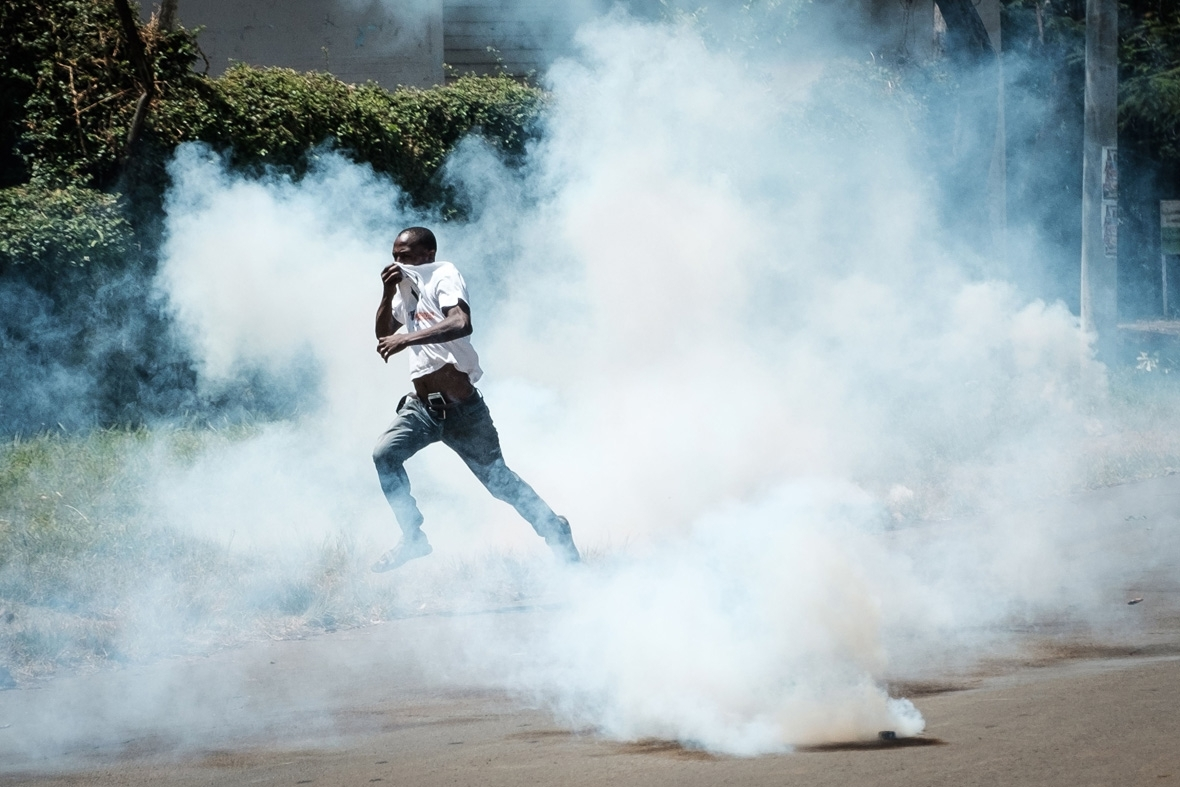 Kenya election protests Odinga