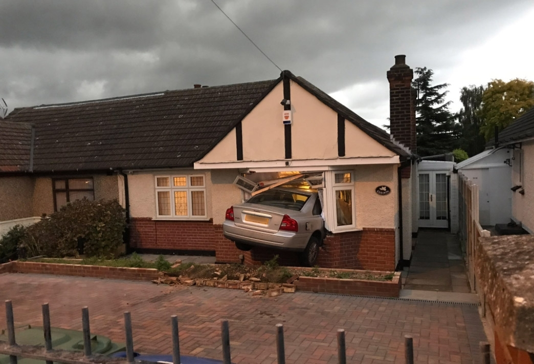 Car crashed into home