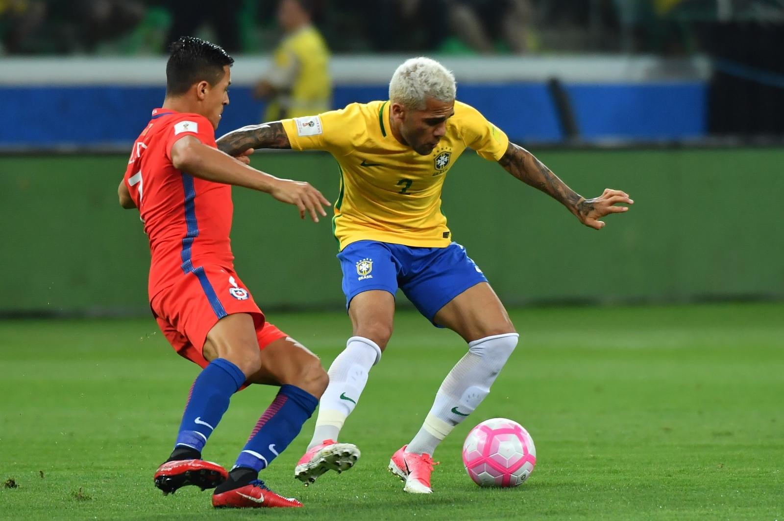 Alexis Sanchez and Dani Alves