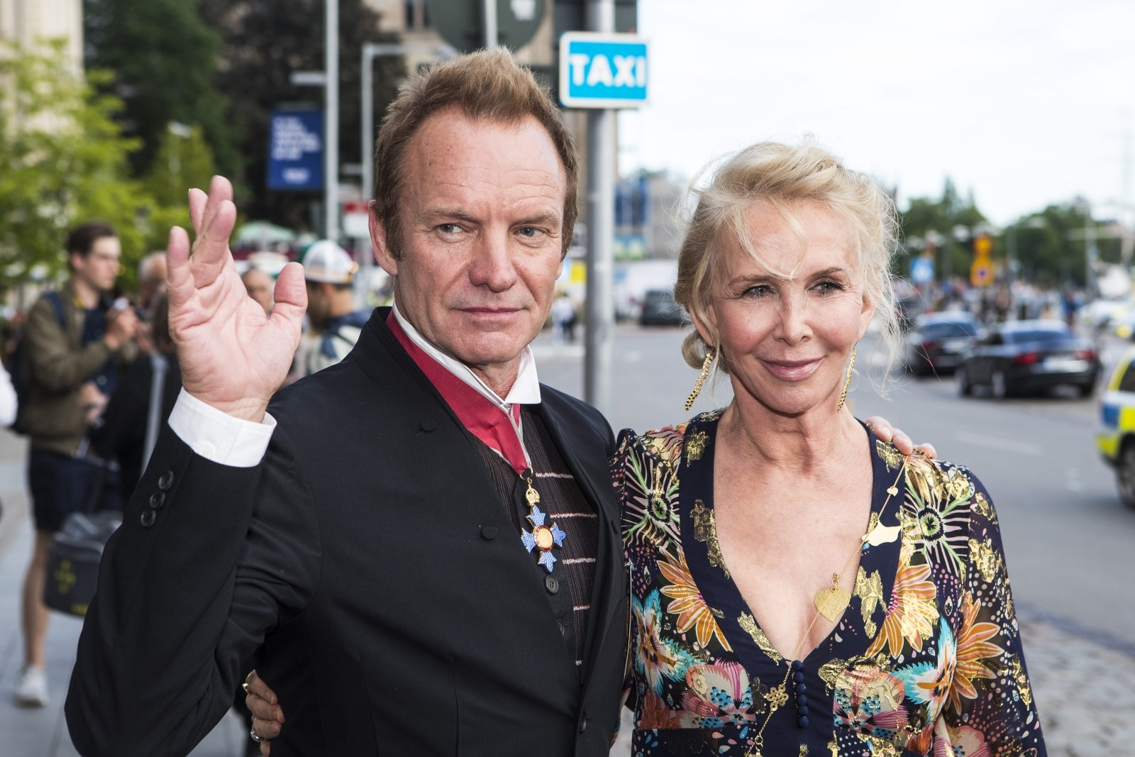 Sting and Trudie