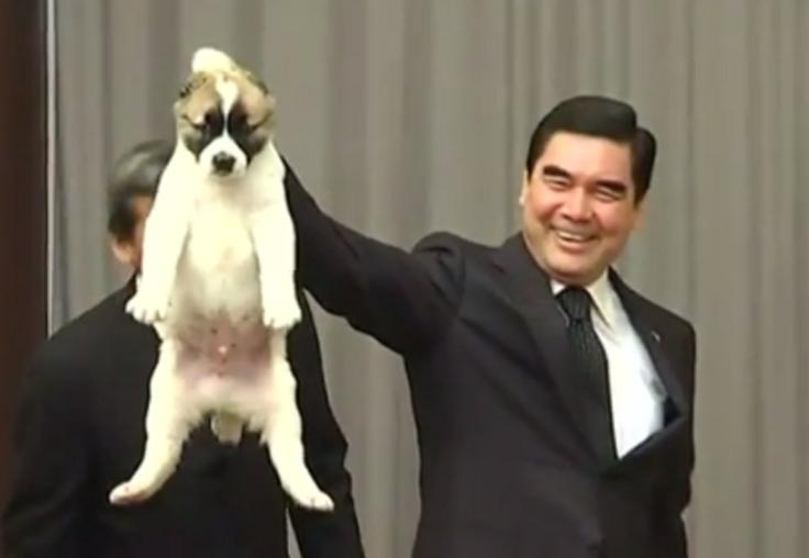 Kurbanguly Berdymukhamedov Putin puppy dog