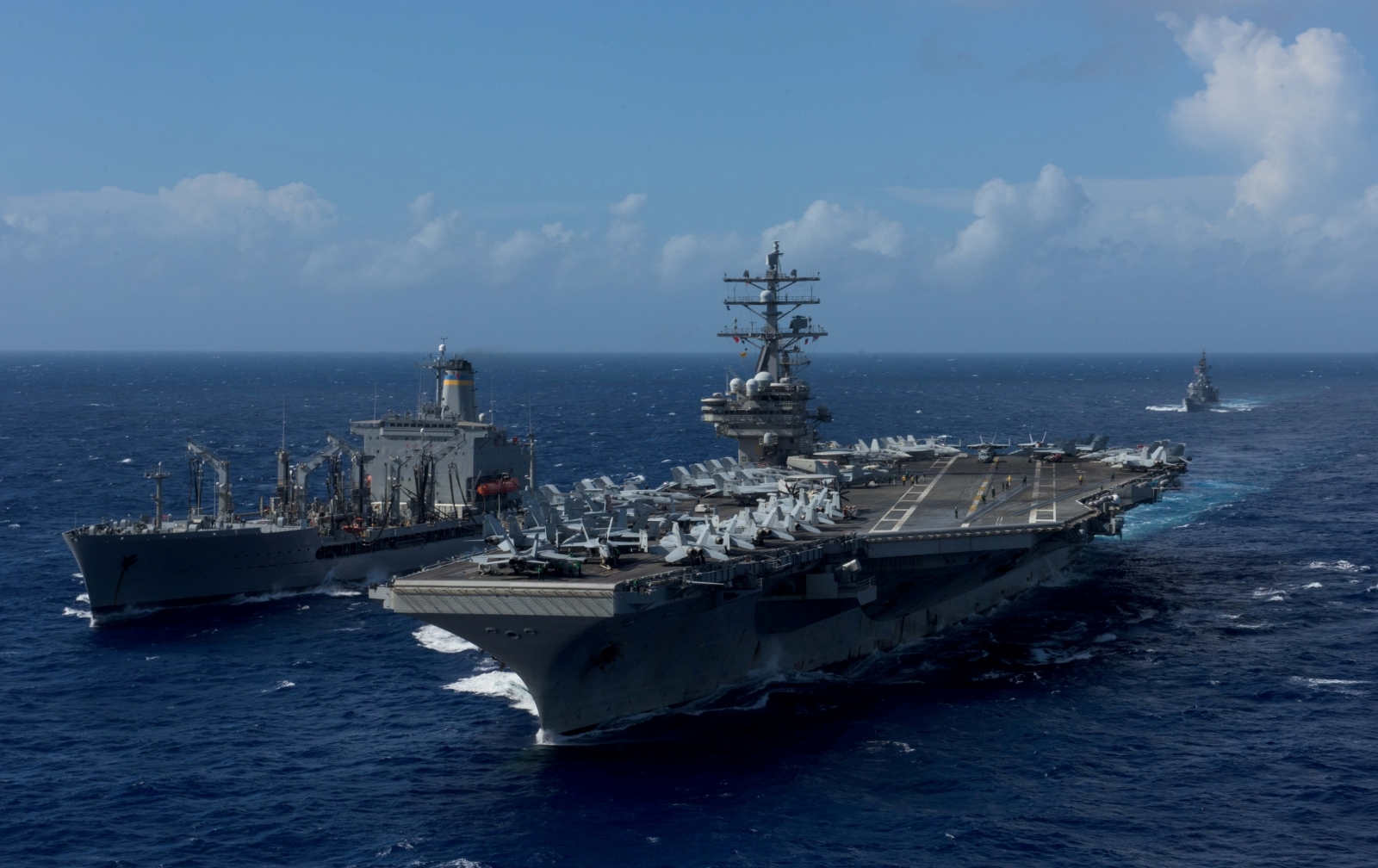 USA  carriers will begin drills in rare show of force