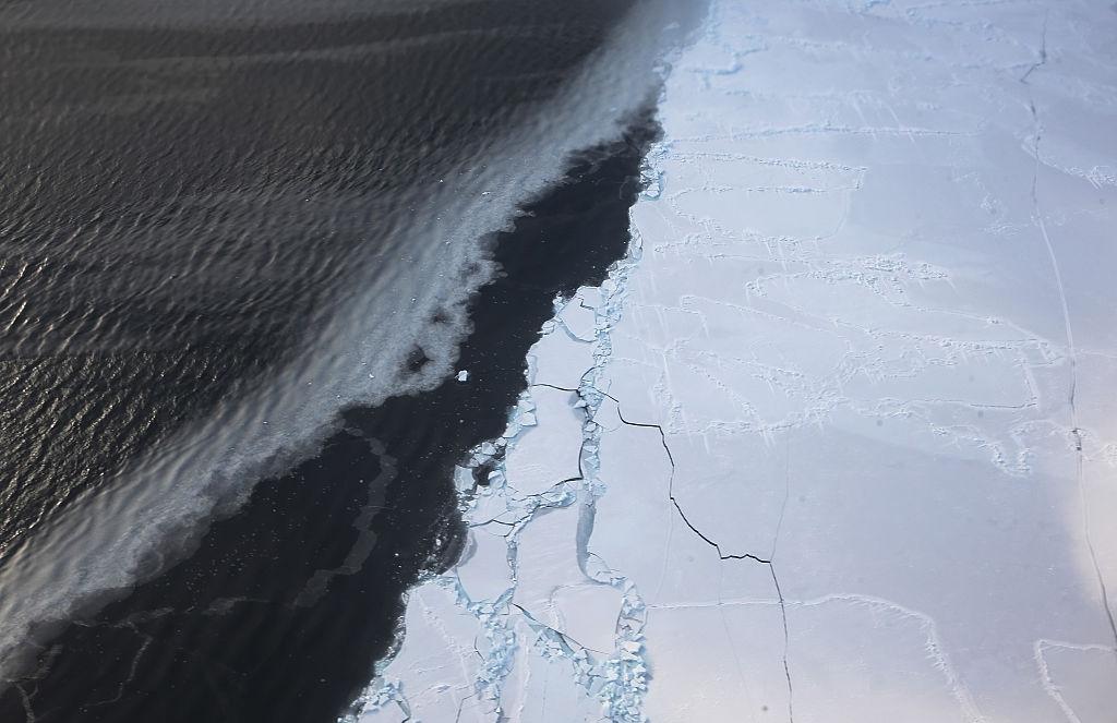 Antarctica ice hole