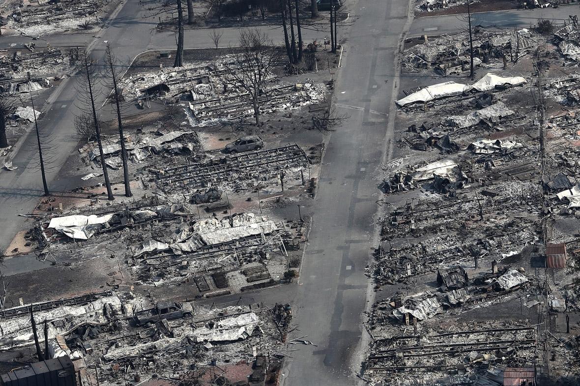 Santa Rosa aerial photos fire